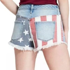 Mossimo High Waist American Flag Shorts Sz 0/25